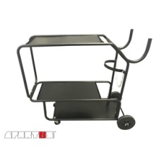 Cart for welding equipment with 3 shelves
