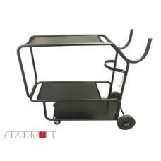 Cart for welding equipment with 3 shelves